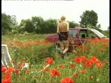 Masturbation with a cucumber in poppy fields