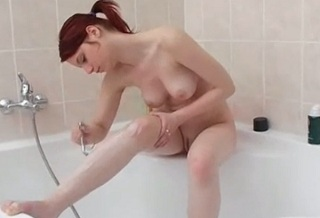 Czech girl Piper Fawn shaving herself completely