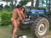 Brazilian tractor driver fucks a girl