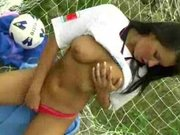 Czech footballer in masturbatory action - Czech porn