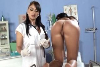 Gynecologist Lea Lexus examines a patient Indira Popov