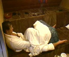 Tommy Hansen and Lena Zahorska in oral sex or Return to the reality show Big Brother