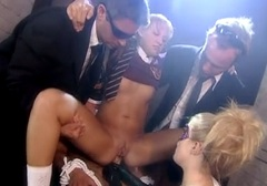 Alicia Rhodes and Tina Fine in an orgy