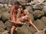 Czech porn actresses Sharka Blue & Sabrine Mallory with a sailor