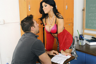 American professor having a moment with her student's cock (Romi Rain and Johnny Castle)