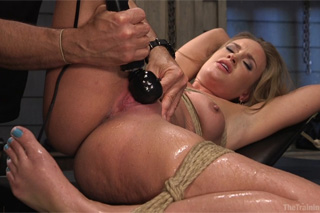April Brookes has squirting-orgasm during torture - BDSM porn
