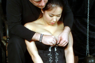 Asian girl Tigerr Benson tortured by pegs and wax! - BDSM porn