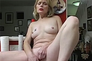Attractive granny irritating pussy