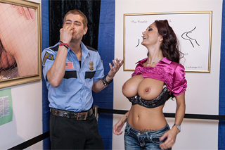 Ava Addams: A teacher on a school trip and a warden at museum (HD porn)