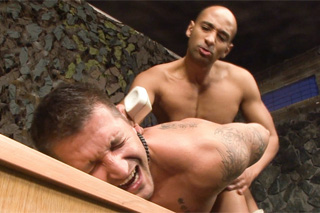 Black Angel and Claudio Antonelli: Military anal drill  gay porn
