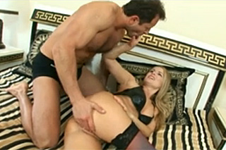 Blonde MILF gets anal fucked by gigolo (George Uhl)
