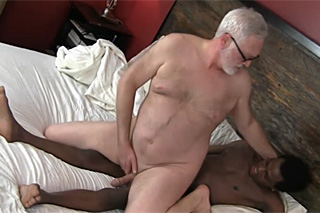 Rich old man fucks with black gigolo - gay porn
