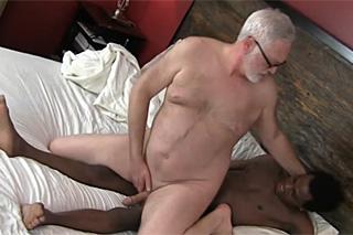 Rich old man fucks with black gigolo - gay porn
