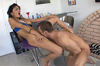 Guy fucks his horny girl after work! (Persia Pele)