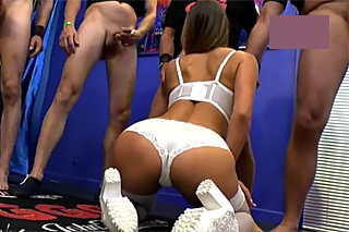 Czech girl Barbara Bieber in a German gang bang!