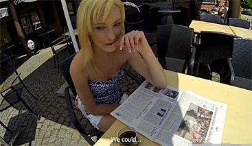 Czech public sex with a girl from a restaurant! (POV)