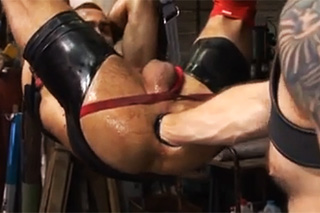 Male BDSM games with a brutal fisting - gay porn