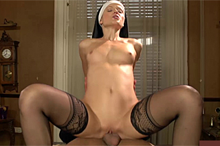 Naughty priest banging a wanting nun in the chapel (Sweet Cat)