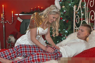 Claudia Macc a Thomas J: Romantická soulož s vánočním andělem!