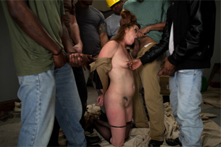 Workers at a construction site fuck boss, or Cici Rhodes in a gang bang!