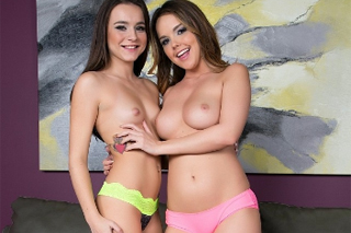 Dillion Harper and Kharlie Stone getting frisky with her vibrator!