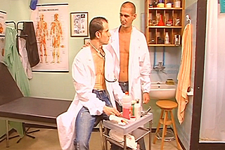 Two doctors are fucking in the surgery  gay porn