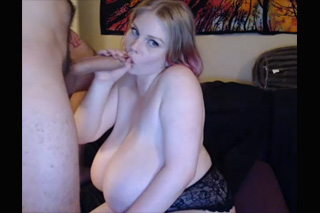 Huge-titted amateur orally teases boyfriend!