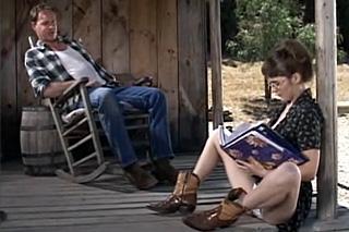 Farmer bangs stepdaughter on a porch - Family Porn