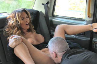FemaleFakeTaxi aka naughty British taxi driver and a single masturbator!