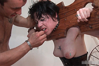 French crazy dude torturing his wife - extreme BDSM porn
