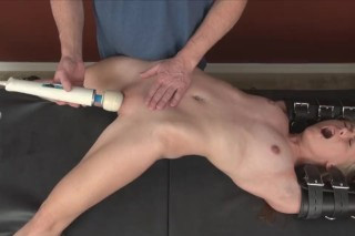 Jessie Young: Bonded and forced to orgasm by vibrator - BDSM porn