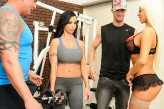 Jewels Jade and Nikita Von James: Orgy in the gym!