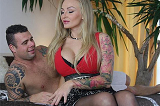 Buxom lady Kyla Green passionately fucking her brother in law!