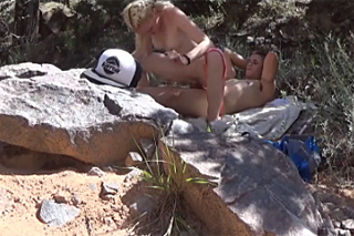 Young couple films fucking in a nature!