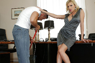 Horny boss fucks with a cleaner in her office! (Donna Bell)