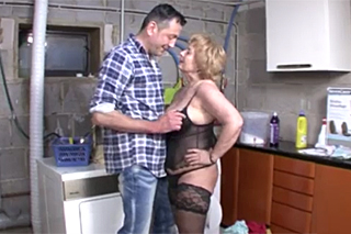 Horny dude banging his old female neighbor