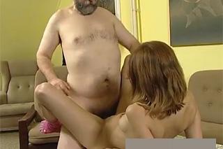 Horny old dude banging his step granddaughter