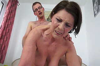 Cheating and a creampie with a chubby mother in law - family porn