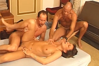 Unfaithful wife fucks with lover in front of masturbating husband!