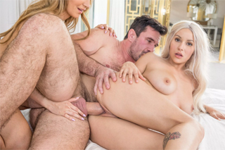 Married man fucks two hot neighbors! (Kylie Page and Moka Mora)