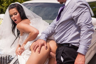 Bride Victoria Blaze fucks the limo driver (HD porn)