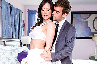 Stepson fucks his stepmother on wedding day (Kendra Lust)