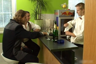 Drunk traders in threesome with bartender - Czech gay porn
