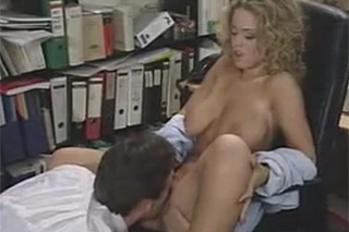 Teacher Steve Holmes fucks student Lydia Pirelli in his cabinet - retro porn