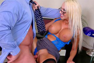 Female boss fucking in the office.