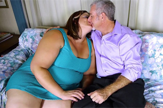 Horny chubster banging her older husband