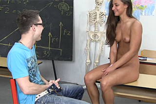Exotic student fucks with her classmate after school!