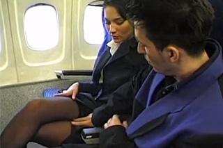 Passenger gets to bang air stewardess during the flight