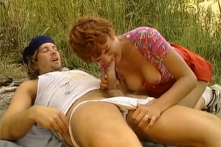 creampie sex v lese