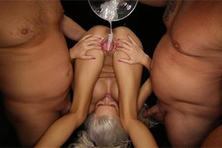 Pornstar Kacey Jordan in extreme gang bang!